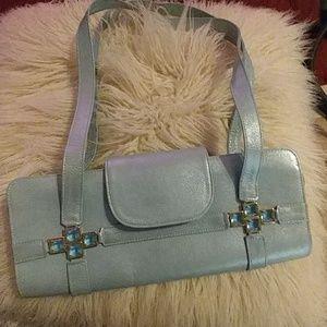 Stuart Weitzman light blue handbag